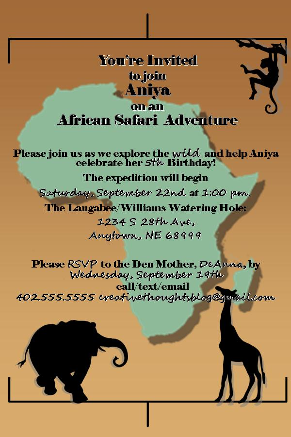 safari party invitations creative thoughts